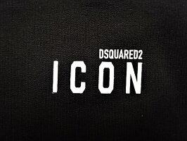 """DSQUARED2(ディースクエアード)【ICONMINILOGOCREWNECKSWEATSHIRT】""""COOLFIT""""マイクロ""""ICON""""クルーネックスウェット★BLACK★"""