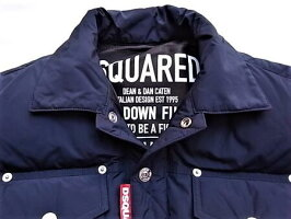 "DSQUARED2(ディースクエアード)【LIGHTLYPADDEDNYLONJACKET】""NYLONPUFFERWITHDENIMDETAILS""ダウンJACKET★DARKBLUE☆"