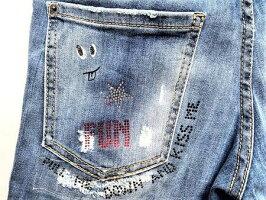 "DSQUARED2(ディースクエアード)【SKATERJEAN】""STRETCHDENIM""""TRASHLIGHTWASH""""スクリブル""スケーターJeans★"