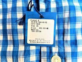 PORTERCLASSIC(ポータークラシック)【ROLLUPGINGHAMCHECKSHIRT】ROLLUPSHIRT☆BLUE★