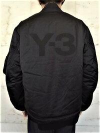 "adidasY-3(ワイ−スリー)【Y-3MCLASSICBOMBER】""Y-3""パディングボンバージャケット★BLACK★"