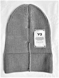 "adidasY-3(ワイ−スリー)【Y-3CLASSICBEANIE】""Y-3""ニットキャップ☆SOLIDGREY☆"