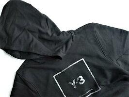 "adidasY-3(ワイ−スリー)【Y-3USQUAREHOODIE】""Y-3""スクエア""ロゴ""スウェットパーカー★BLACK★"