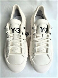 "adidasY-3(ワイ−スリー)【Y-3GR.1PLOW】""GORE-TEXライニング""レザースニーカー☆COREWHITE/COREWHITE/BLACK☆"