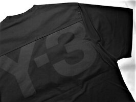 "adidasY-3(ワイ−スリー)【Y-3MCLASSICPAPERJERSEYSSTEE】バックプリント""Y-3""ロゴショートスリーブティー★BLACK★"