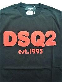 """DSQUARED2(ディースクエアード)【DSQ2T-SHIRT】""""COOLFIT""""""""ICONDSQUARED2""""ショートスリーブティーシャツ★BLACK★"""