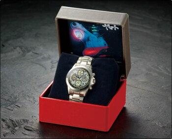 ●宇宙戦艦ヤマト219940周年映画公開記念国連宇宙海軍連合宇宙艦隊所属宇宙戦艦ヤマト搭乗員装備品宙艇式クロノグラフ腕時計