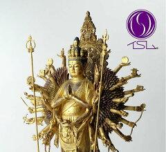 本物の仏像を寺院へ納入するイSムの逸品 / 千の手の無窮の広がりイSム 千手観音 / 仏像アート