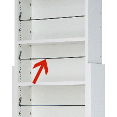 奥行き17cm天井つっぱり本棚カシマカスタム上段専用追加ブックガードBG52