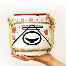 ●ミニ鏡開きセットM-007【雪の結晶】岸本吉二商店(きしもときちじしょうてん)