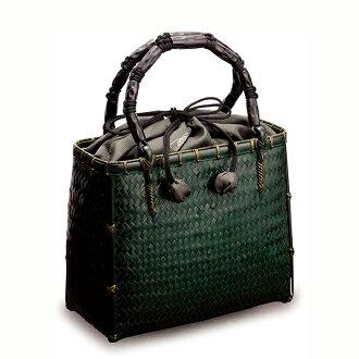 -毛利健一竹編織織袋 S (綠色) / 4142 日本竹日本配件袋
