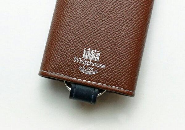 『ホワイトハウスコックス』 S9692 KEY CASE LondonCalf Whitehouse Cox 正規取扱店 ロンドンカーフ×ブライドルレザー リング付キーケース