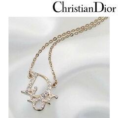 クリスチャンディオール ネックレス Christian Dior ディオール レディース Dior ロゴ×ラインストーン / ゴールド [ N0053D PDT GO ]【レビューを書いて送料無料】【レディース シンプル ハート ブランド シルバー プレゼント】
