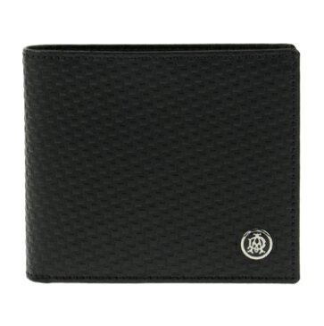 ダンヒル 財布 dunhill 二つ折り財布 マイクロ ディーエイト MICRO D-EIGHT レザー ブラック L2V332A