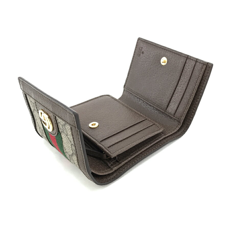 pretty nice 55f9a 087b0 グッチ GUCCI 財布 三つ折り コンパクトウォレット オフィディア ...