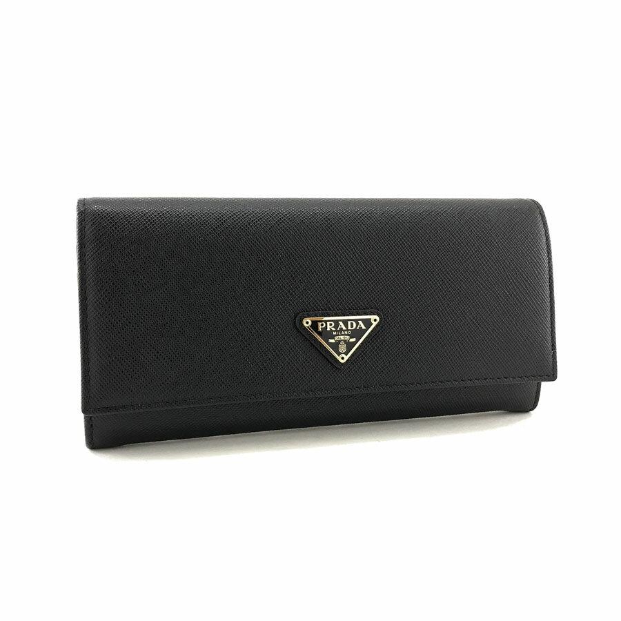 415430b40c82 プラダ PRADA 長財布 フラップ サフィアーノ トライアングル SAFFIANO TRIANG 三角ロゴプレート レザー ブラック 1MH132  QHH F0002