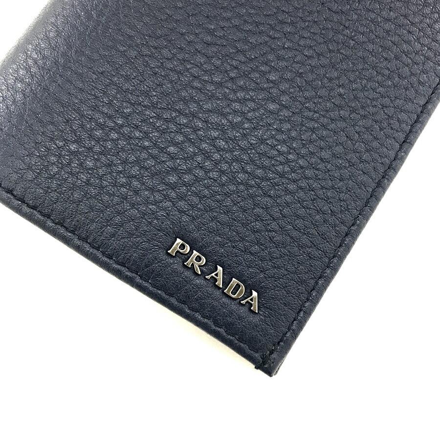 プラダ PRADA 長財布 二つ折り ヴィッテロ グレイン VITELLO GRAIN レザー バルティコ BALTICO ネイビー 2MV836 2E3A F0216