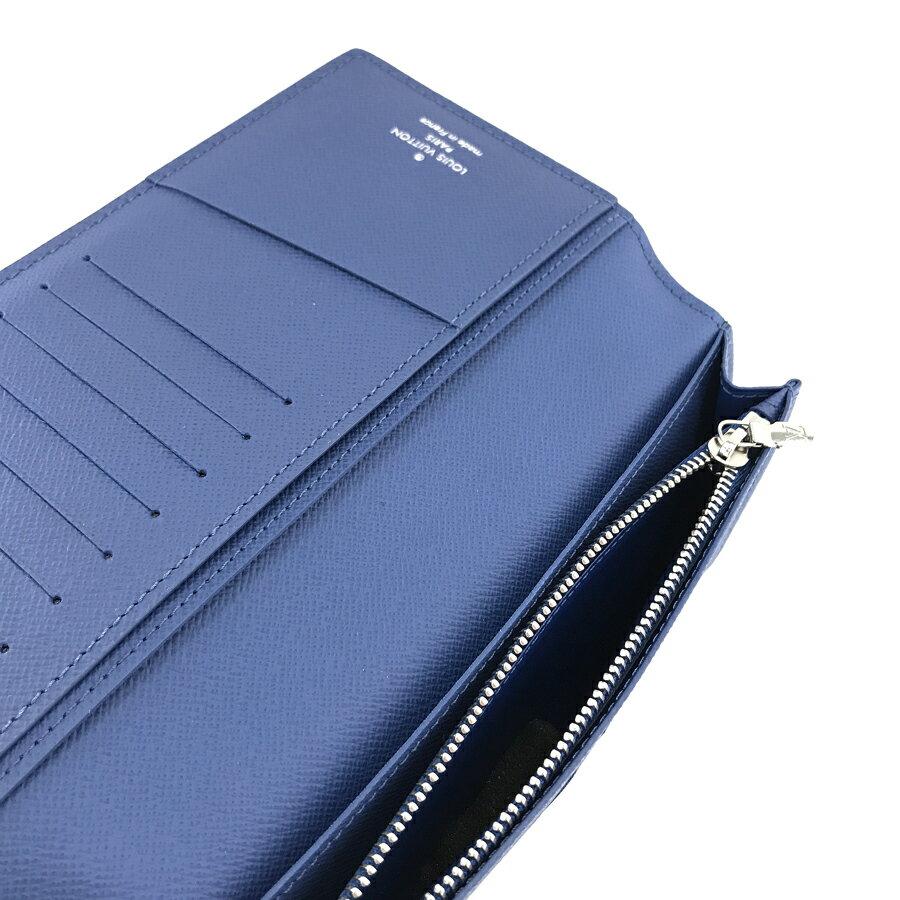 ルイヴィトン LOUIS VUITTON 長財布 二つ折り ポルトフォイユ ブラザ エピ ブルーオックスフォード M62973