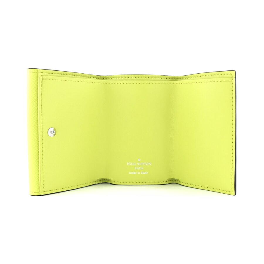 ルイヴィトン LOUIS VUITTON 財布 三つ折り ディスカバリー コンパクト ウォレット タイガ モノグラム ジョーヌ イエロー系 M67629