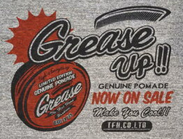 BR-06W-杢グレーブラック-GREASEUP-BR06W-FLATHEAD-フラットヘッドベースボールTシャツ-GLORYPARK-グローリーパークベースボールTシャツ【送料無料】【smtb-tk】