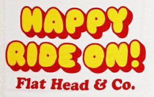 BR-09W-ホワイト杢グレー-HAPPYRIDEON!-BR09W-FLATHEAD-フラットヘッドベースボールTシャツ-GLORYPARK-グローリーパークベースボールTシャツ【送料無料】【smtb-tk】