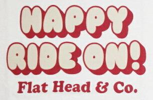BR-09W-ホワイトネイビー-HAPPYRIDEON!-BR09W-FLATHEAD-フラットヘッドベースボールTシャツ-GLORYPARK-グローリーパークベースボールTシャツ【送料無料】【smtb-tk】