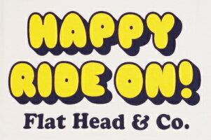 BR-09W-ホワイトレッド-HAPPYRIDEON!-BR09W-FLATHEAD-フラットヘッドベースボールTシャツ-GLORYPARK-グローリーパークベースボールTシャツ【送料無料】【smtb-tk】