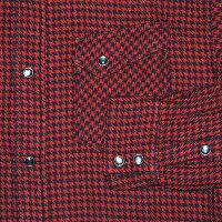 FNW-73W-レッドブラック-フランネルウエスタンシャツ73-FNW73W-FLATHEAD-フラットヘッドフランネルシャツ・フラットヘッドシャツ【送料無料】【smtb-tk】