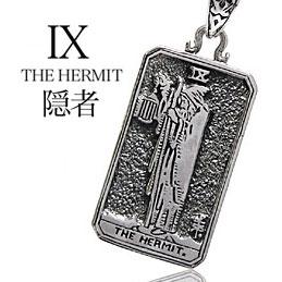 送料無料! pe1695-050 c0065-50cmチェーン付き シルバーアクセサリー シルバーネックレス THE HERMIT 隠者 メンズ アクセサリー ネックレス タロットカード 隠者