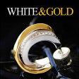 【メンズピアス】【シルバーピアス】【シルバーアクセサリー】 ◆pi0426■ホワイトとゴールドのコントラストが美しい半フープピアス●バラ売り【シルバー925│フープピアス│ゴールド││ホワイト】