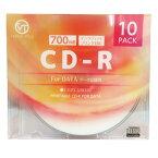 VERTEX CD-R(Data) 1回記録用 700MB 1-52倍速 10P インクジェットプリンタ対応(ホワイト) 10CDRD.700MBCA