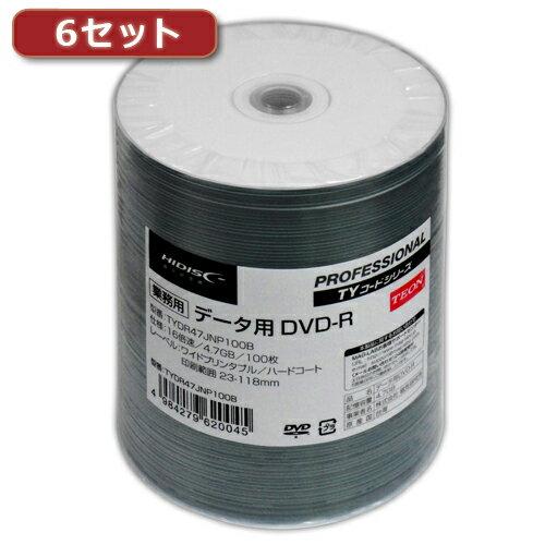 録画・録音用メディア, DVDメディア 6HI DISC DVD-R() 100 TYDR47JNP100BX6