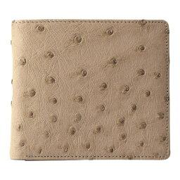 紳士用オーストリッチ財布 ベージュ K11108825