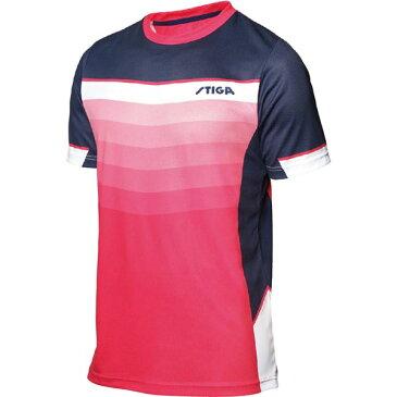 STIGA(スティガ) 卓球ユニフォーム RIVER SHIRT リバーシャツ ピンク 4XL