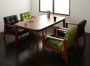 ダイニング テーブル セット 5点セット Gタイプ(テーブルW160cm+1Pソファ×4) 4人用 ウォールナット ダイニング5点セット 食卓5点セット 椅子 イス ダイニングソファセット ダーニー ダイニング