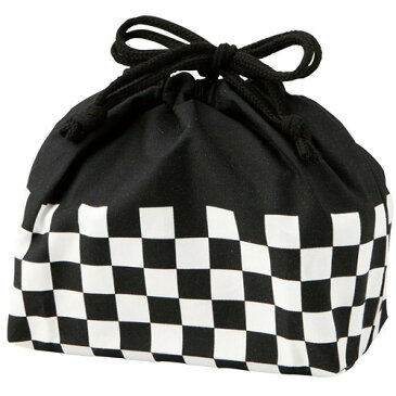 メンズ ランチ巾着袋 ブラック T-36175(1コ入)