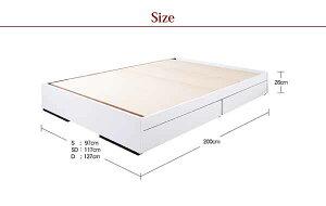 ベッド収納ダブルフレームシンプル収納ベッド-スリモ-フロアベッドフロアベットダブルサイズダブルベッド収納機能付ベッド引き出し収納ベッド寝室ベッドインテリアデザインオシャレお洒落通販家具送料無料送料込