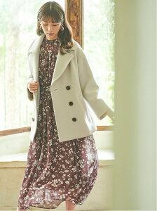 [Rakuten Fashion]ショートPコート 31 Sons de mode トランテアン ソン ドゥ モード コート/ジャケット ピーコート グレー ピンク ブルー【送料無料】