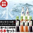 【送料無料】飲む果実のお酢&ミネラルウォーター選べる6本セット(ご自宅用・包装なし)