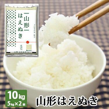 山形県産 はえぬき 10kg (5kg×2本) 令和 2年産   送料無料 米 ミツ...