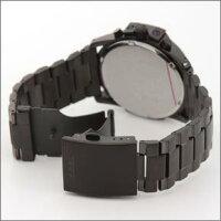 ディーゼルメンズ腕時計クールな3Dインデックスメンズ・オールブラック・クロノグラフ・ブレスウオッチDZ4180