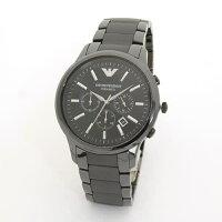 エンポリオアルマーニメンズ腕時計セラミック素材のオールブラック・クロノグラフウオッチAR1451