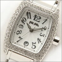 FolliFollieフォリフォリレディース腕時計ラインストーン&セラミックホワイトブレスウオッチWF5T135BDW【開店セール1212】【after20130308】【RCP】130206_free
