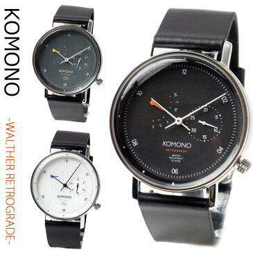 KOMONO 腕時計 ワルサーレトログラード Walther Retrograde レザーベルト メンズ ユニセックス コモノ