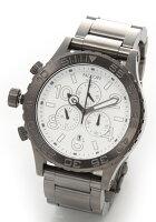 NIXONニクソンメンズ腕時計4220(フォーティーツートゥエンティークロノグラフ)メンズブレスウオッチ(ガンメタル)A037-486