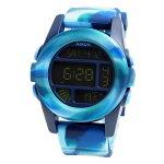 NIXONニクソンメンズ腕時計THEUNITユニットマーブルブルーデジタルウォッチメンズウォッチ男性用A1971726A197-172602P01Jun14