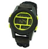 NIXON ニクソン メンズ腕時計 THE UNIT ユニット ブラック/リフレクティブウーベン イエロー デジタルウォッチ メンズウォッチ 男性用 A1971941 A197-1941 【RCP】 02P12Oct15