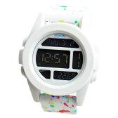 NIXON ニクソン 腕時計 メンズ ユニセックス THE UNIT ユニット ホワイト マルチスペックル デジタル メンズウォッチ 男性用 A197-2313 A1972313 【RCP】
