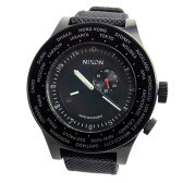 NIXON ニクソン 腕時計 メンズ PASSPORT パスポート アナログワールドタイム オールブラック A321-001 A321001 【RCP】