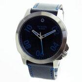 NIXON ニクソン 腕時計 メンズ RANGER 45 LEATHER レンジャー45レザー ダークブルー A466-2219 A4662219 【RCP】